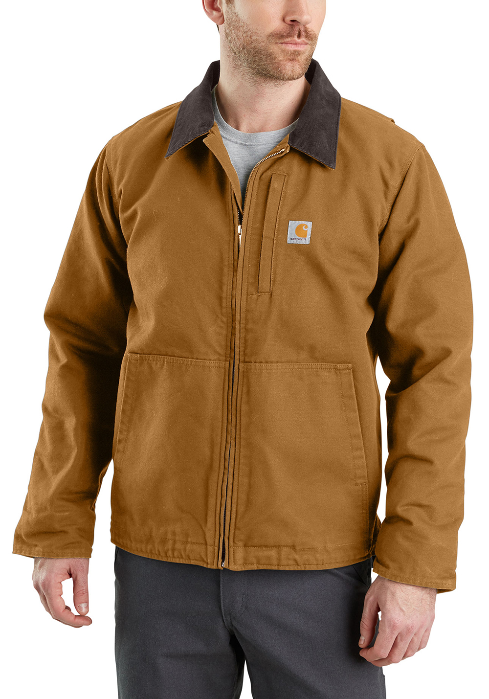 Mens Carhartt Full Swing Armstrong Jacket Brown