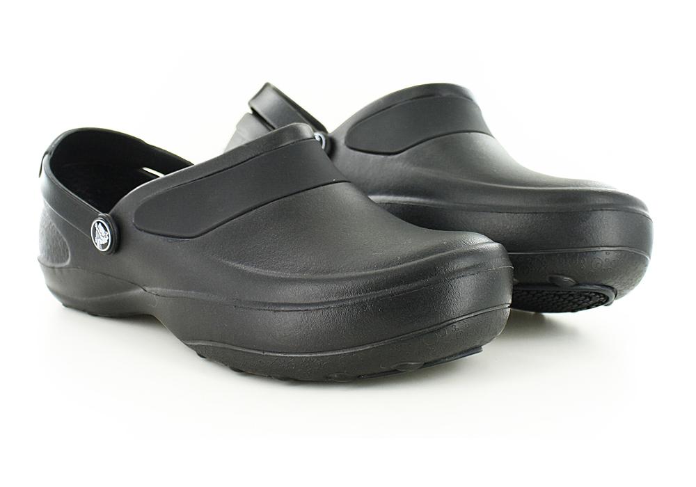 moda designerska Kod kuponu cienie Womens Crocs Mercy Work Slip On Black