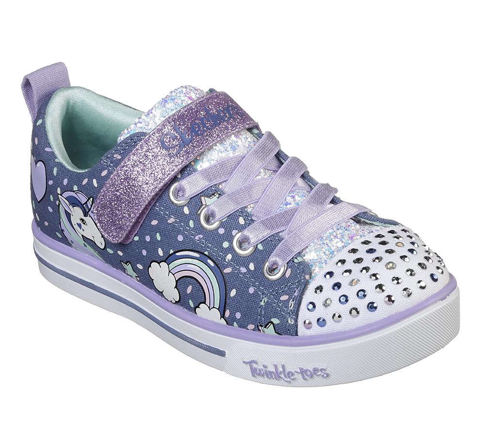 3a997f443ae18 Infant Girls Skechers Sparkle Lite Unicorn Craze Denim in Blue