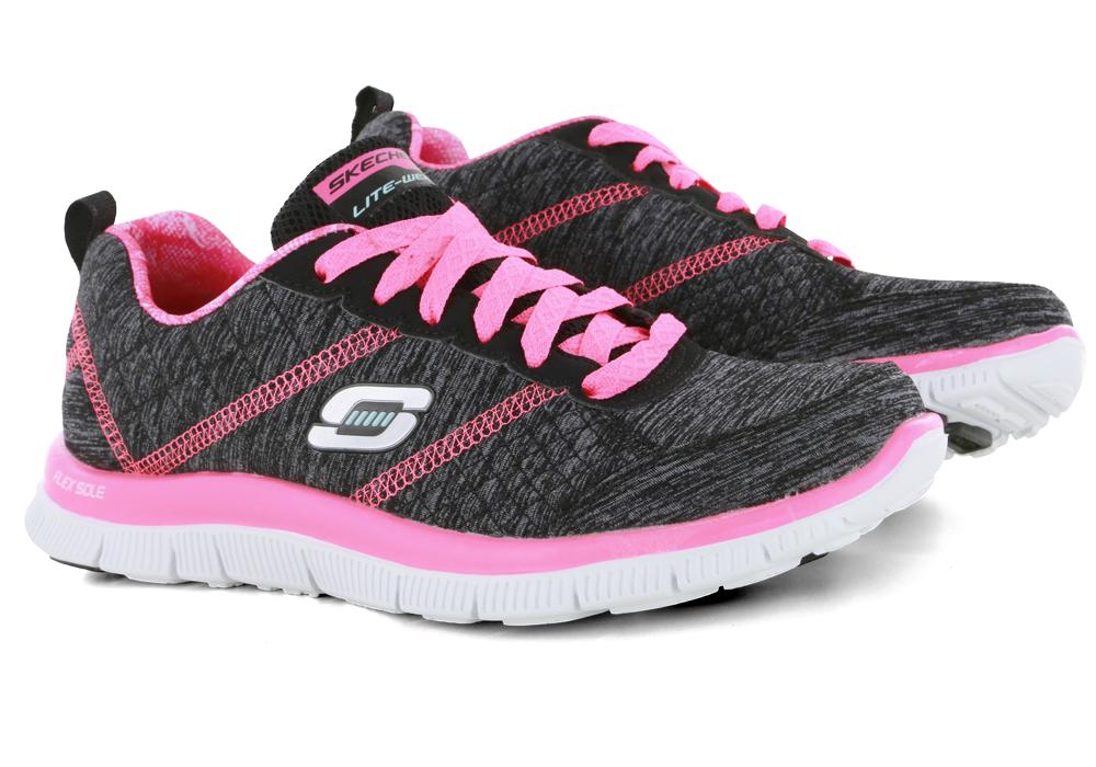 black pink skechers