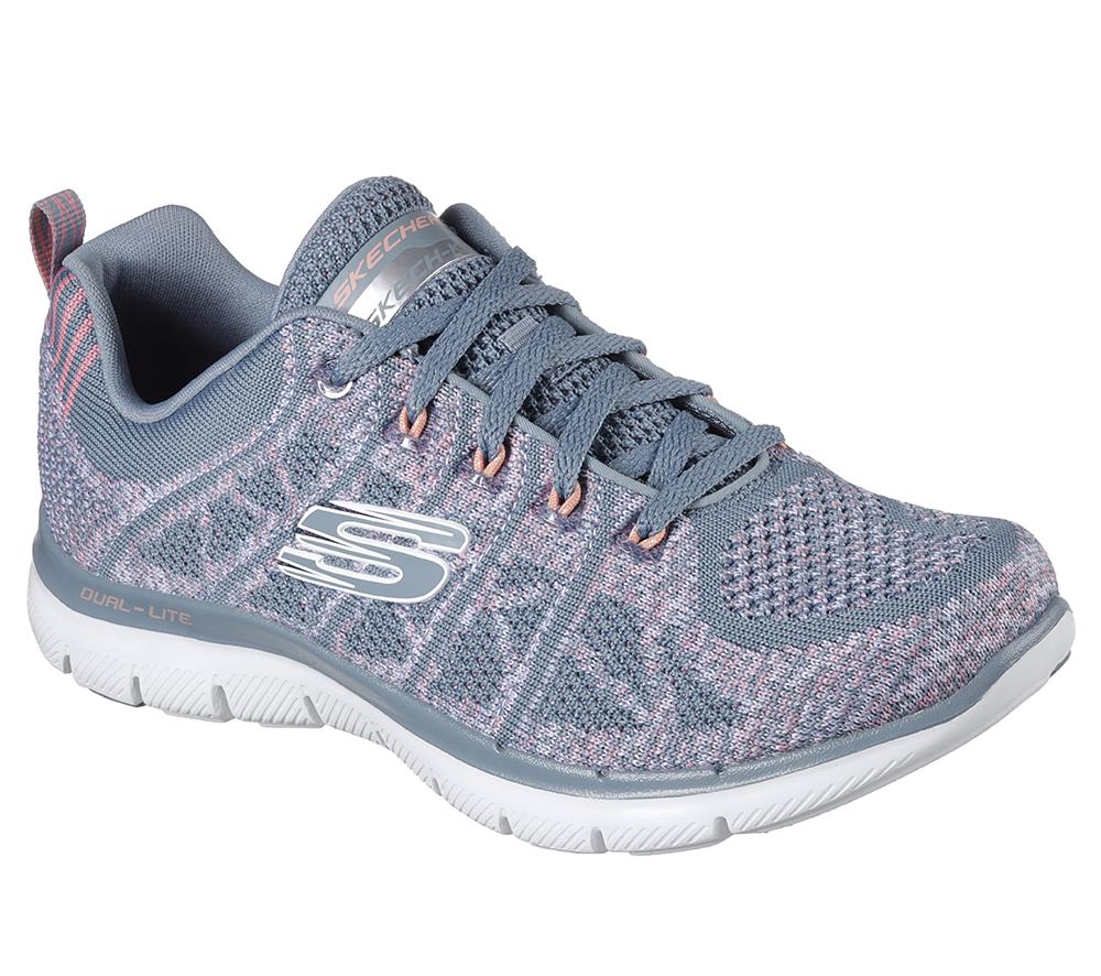 960e5e634f0b Womens Skechers Sport Flex Appeal 2.0 New Gem Slate Pink in Gray