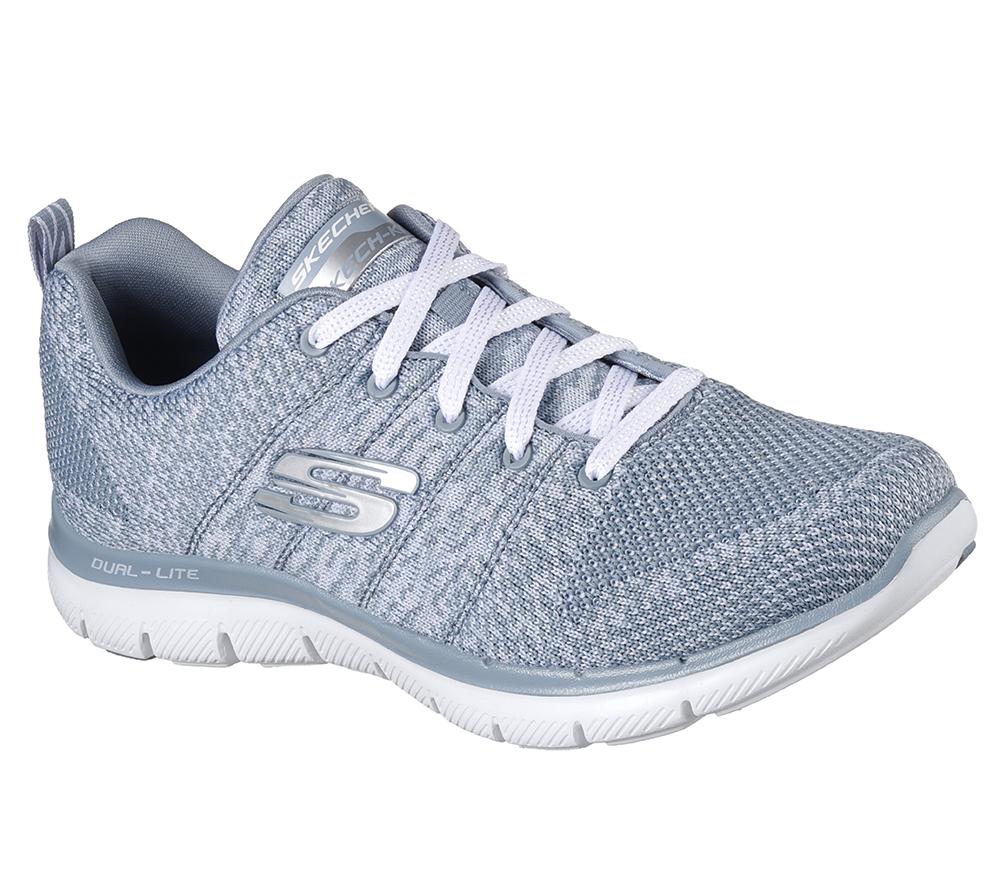 f777dcf70c4d Womens Skechers Flex Appeal 2.0 High Energy Slate in Gray
