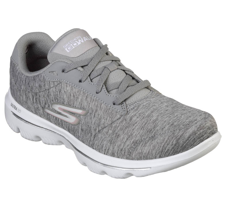 Womens Skechers GO Walk Evolution Ultra Concentrate Grey