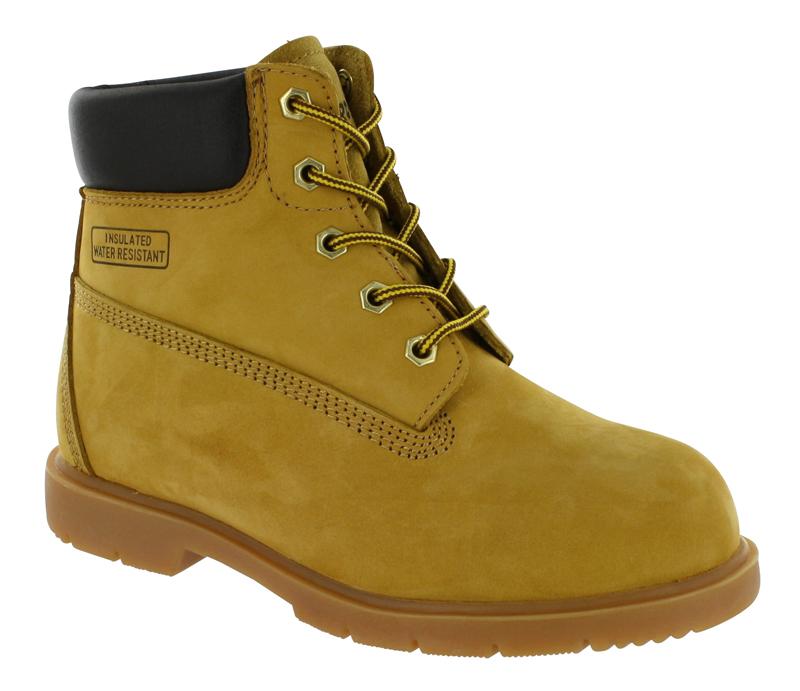 boys fuda worker boot wheat
