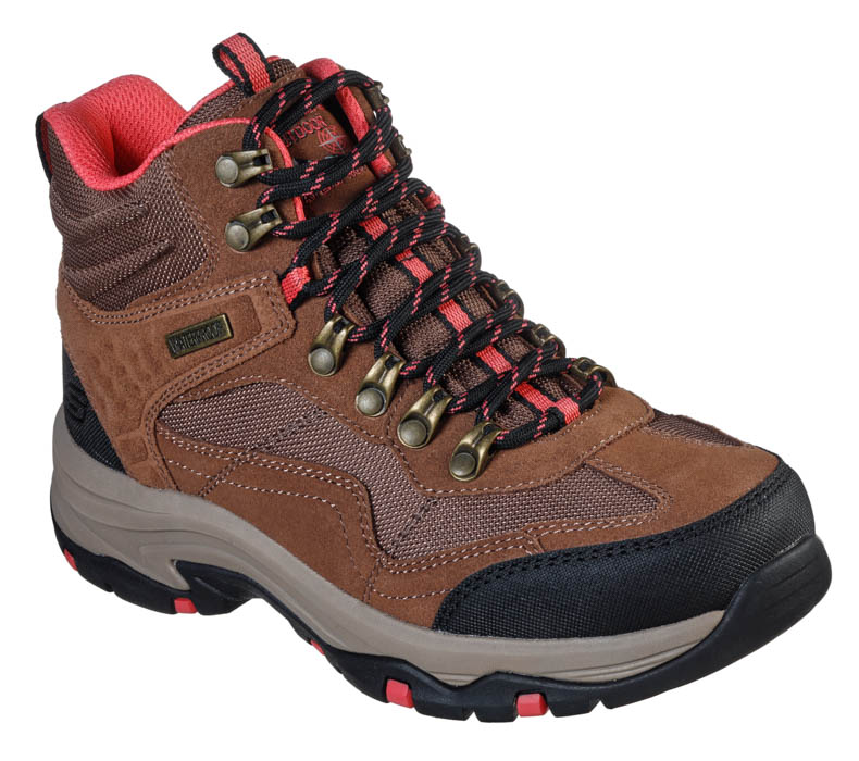 Womens Skechers Trego Base Camp Mid Hiker TanCoral