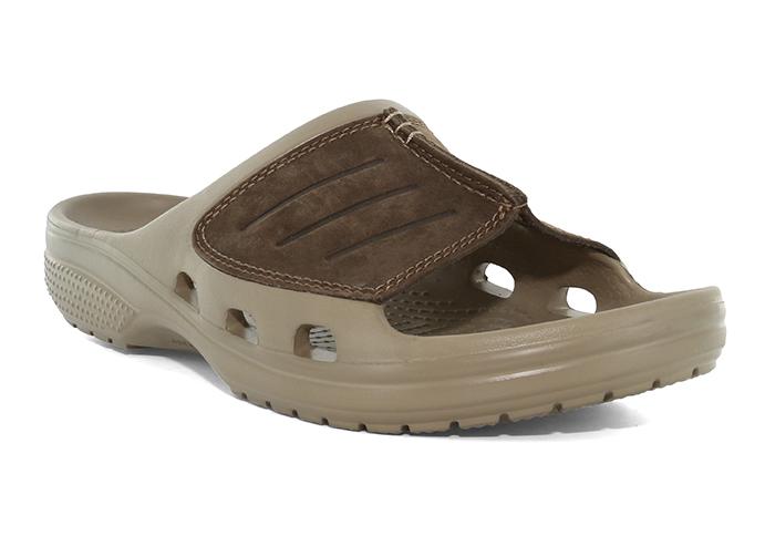 e0b8148350dc Crocs   Mens Crocs Yukon Mesa Slide Khaki Espresso