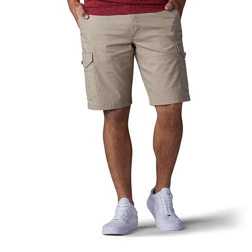 bae8143d Mens Lee Swope Cargo Extreme Motion Shorts Caramel in Tan