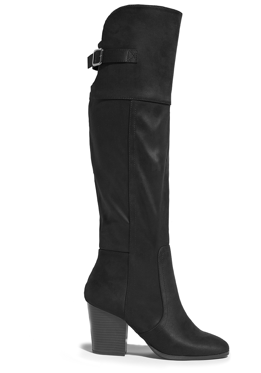 Largest Supplier For Sale Easy Street Maxwell Knee High Boot(Women's) -Tan New Super Suede Good Selling iMNBTw4