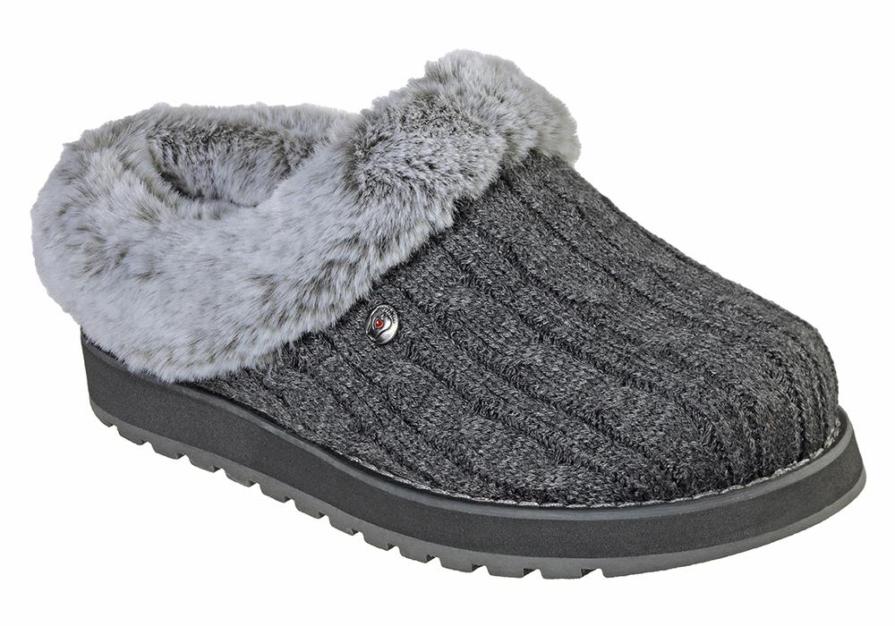 Womens Skechers Bobs Keepsakes Ice Angel Clog Charcoal In Gray
