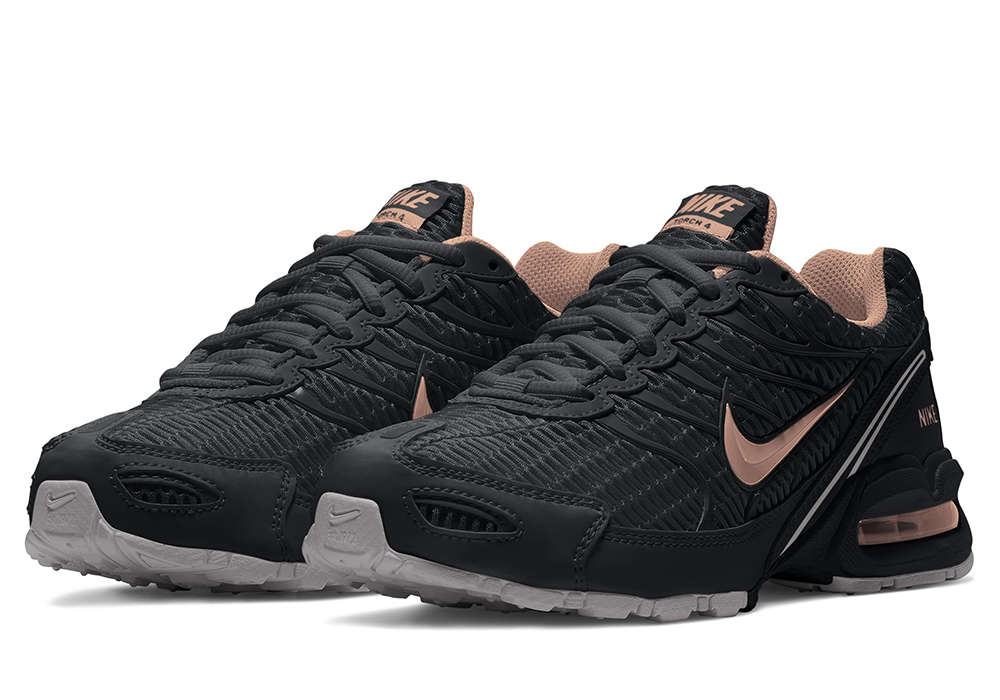 sports shoes ffa49 6cf9d Womens Nike Air Max Torch 4 Runner Black Rose Gold in Black