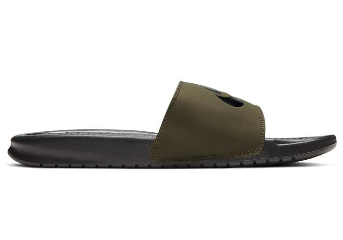 abcb3596d4 Mens Nike Benassi JDI Slide Olive/Black in Green