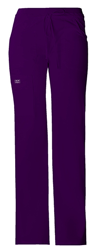 Womens Cherokee Workwear Pull On Pants Eggplant