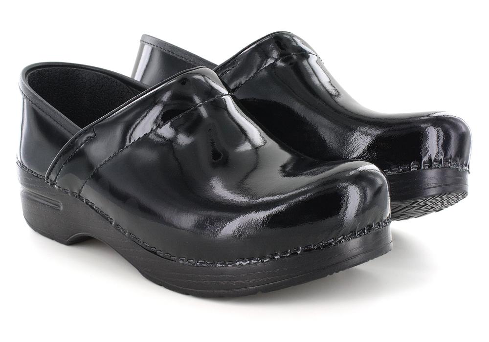 Womens Dansko Professional Slip On Black Patent