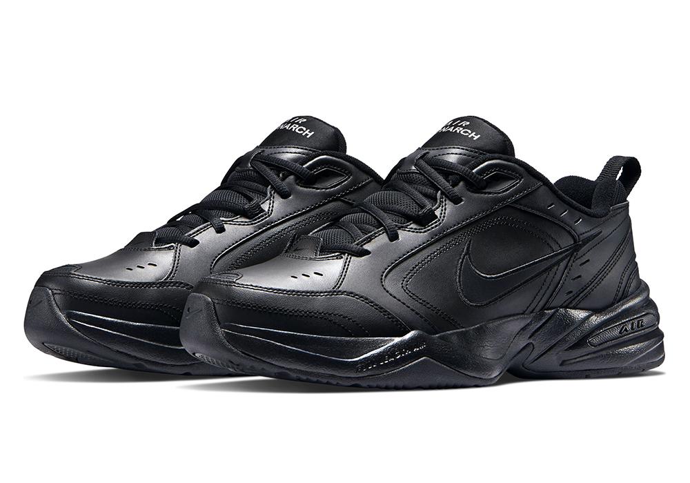 5b1c00562c81 Mens Nike Air Monarch IV Trainer 4E Black in Black