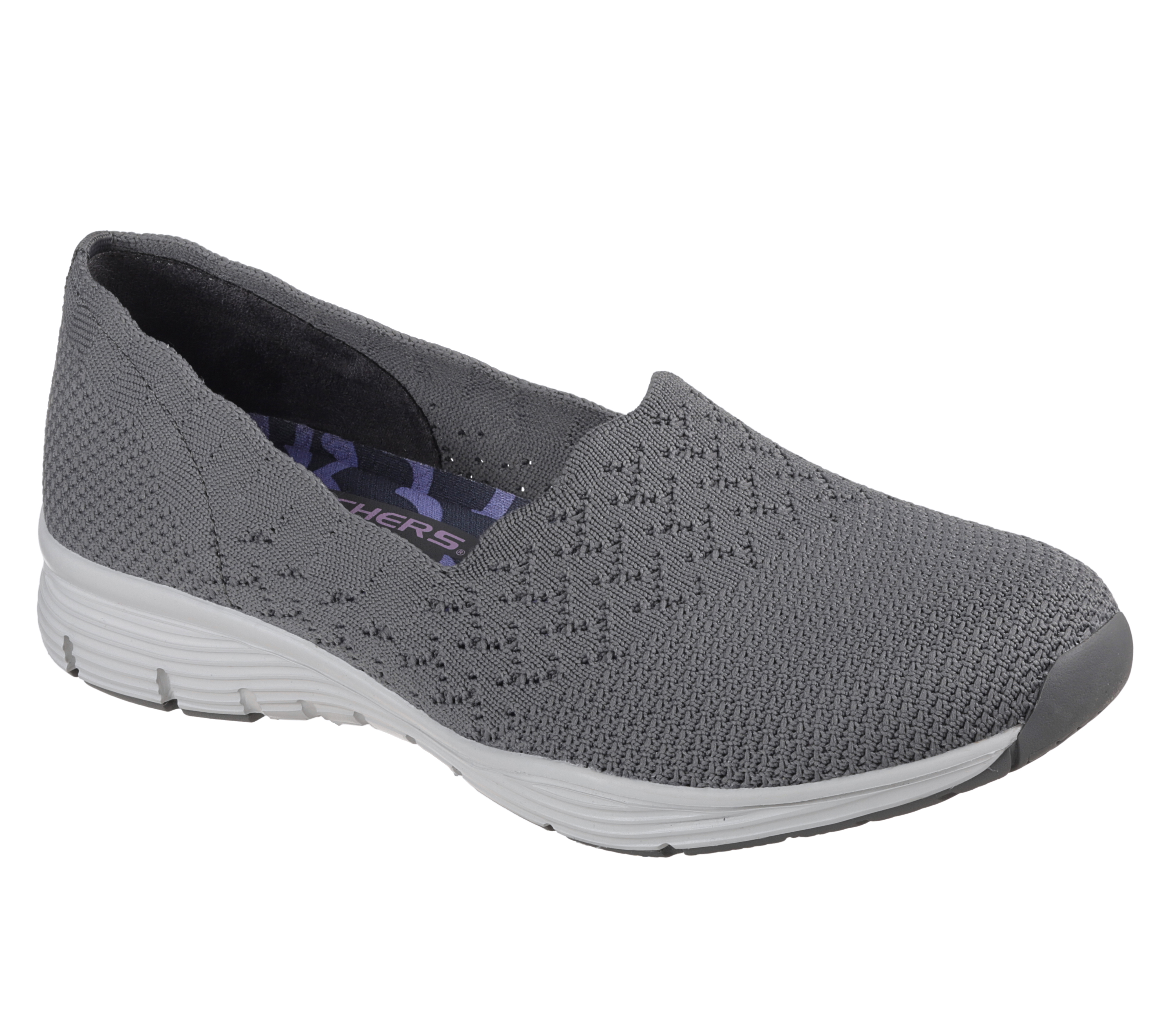50% off preview of buy Womens Skechers Seager Stat Slip On Grey