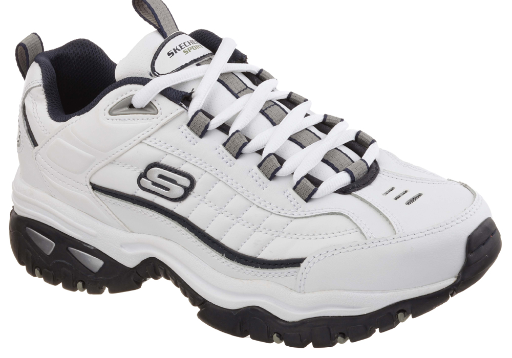 Mens Skechers Energy After Burn Athletic White / Navy