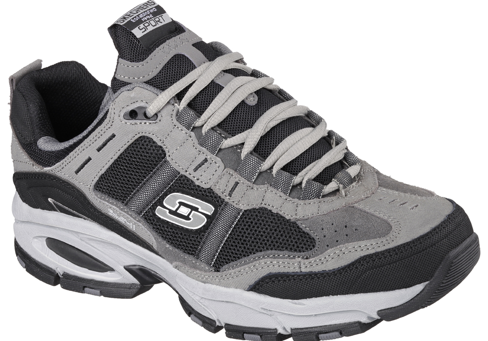 4b8ddcc509ea Mens Skechers Vigor 2.0 Trait Charcoal   Black in Gray