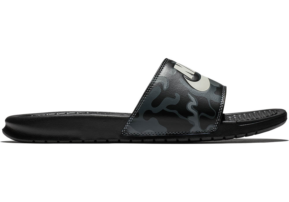 pretty nice a99e8 3f918 Mens Nike Benassi JDI Print Slide Black Gray in Black