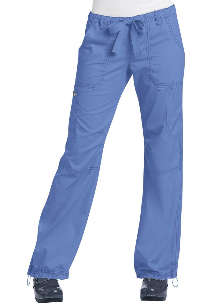 e449b4aef72 Womens Koi Lindsey Drawstring Cargo Pants True Ceil in Blue