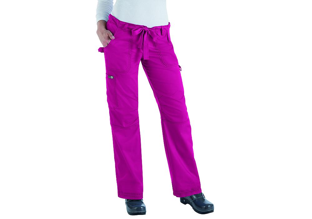 Womens Koi Lindsey Drawstring Cargo Pants Lipstick Pink