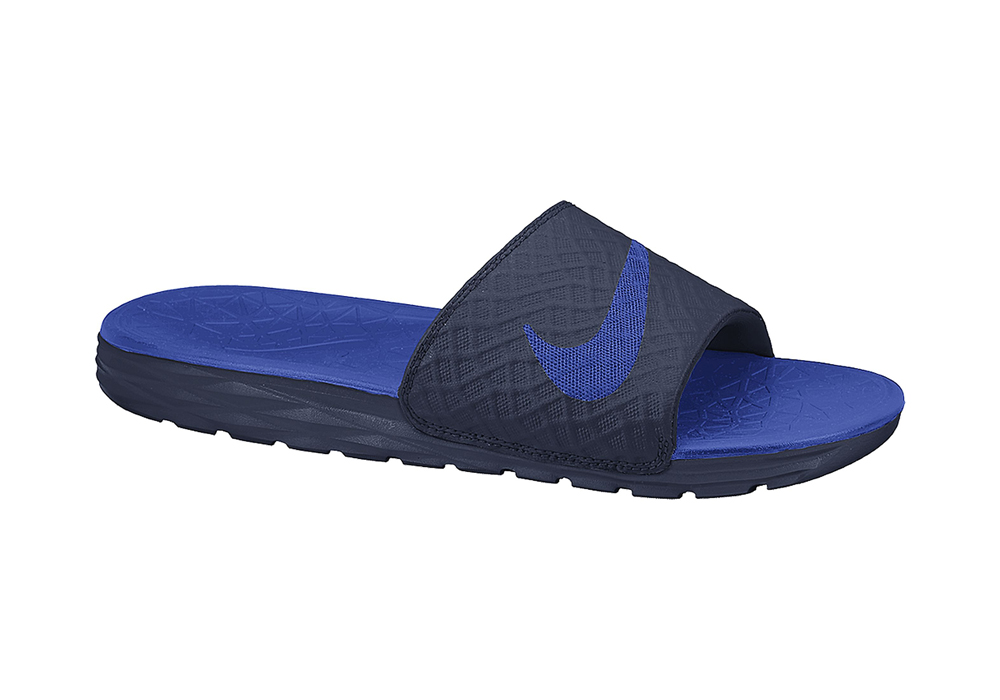 0eec2d024d1d Mens Nike Benassi Solarsoft Slide Black Royal in Black