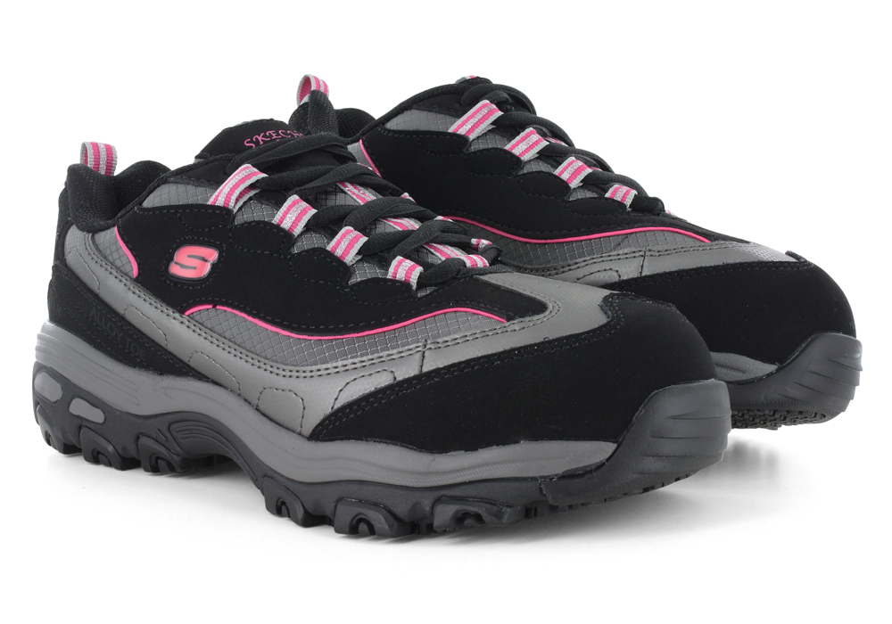 Womens > Boots > Safety Toe > Womens Skechers Work Slip Resistant D'Lites Black