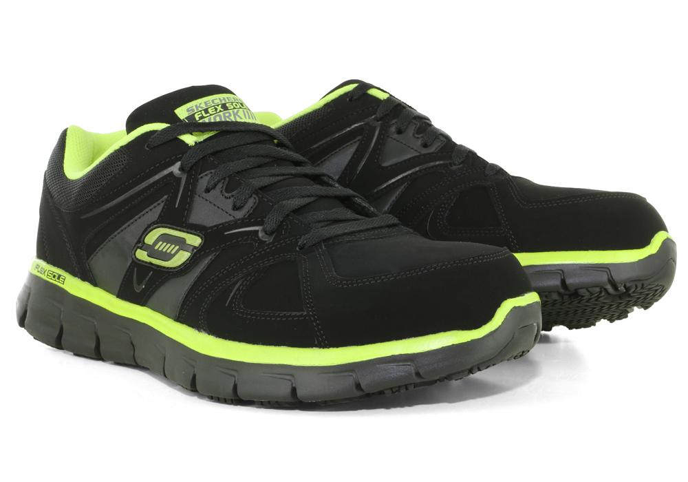 Mens Skechers Work Steel Toe Slip Resistant Ekron Athletic