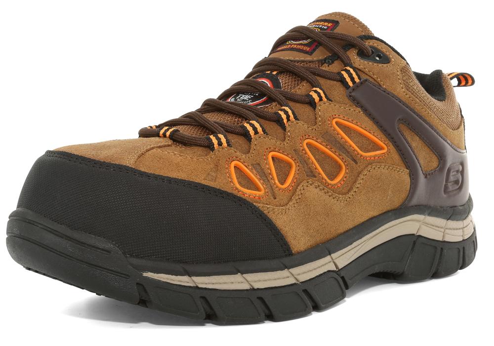 Mens Skechers Work Composite Toe SR Dunmor BrownOrange