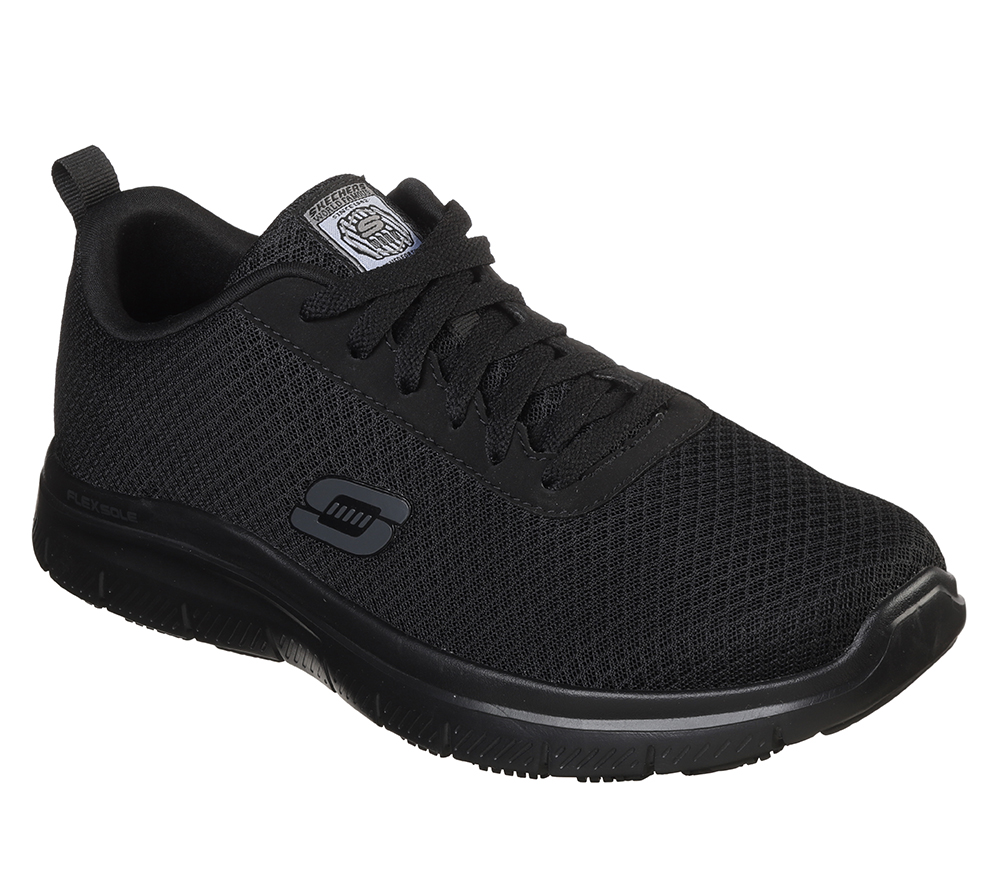 Mens Skechers Work Slip Resistant Bendon Mesh Athletic Black