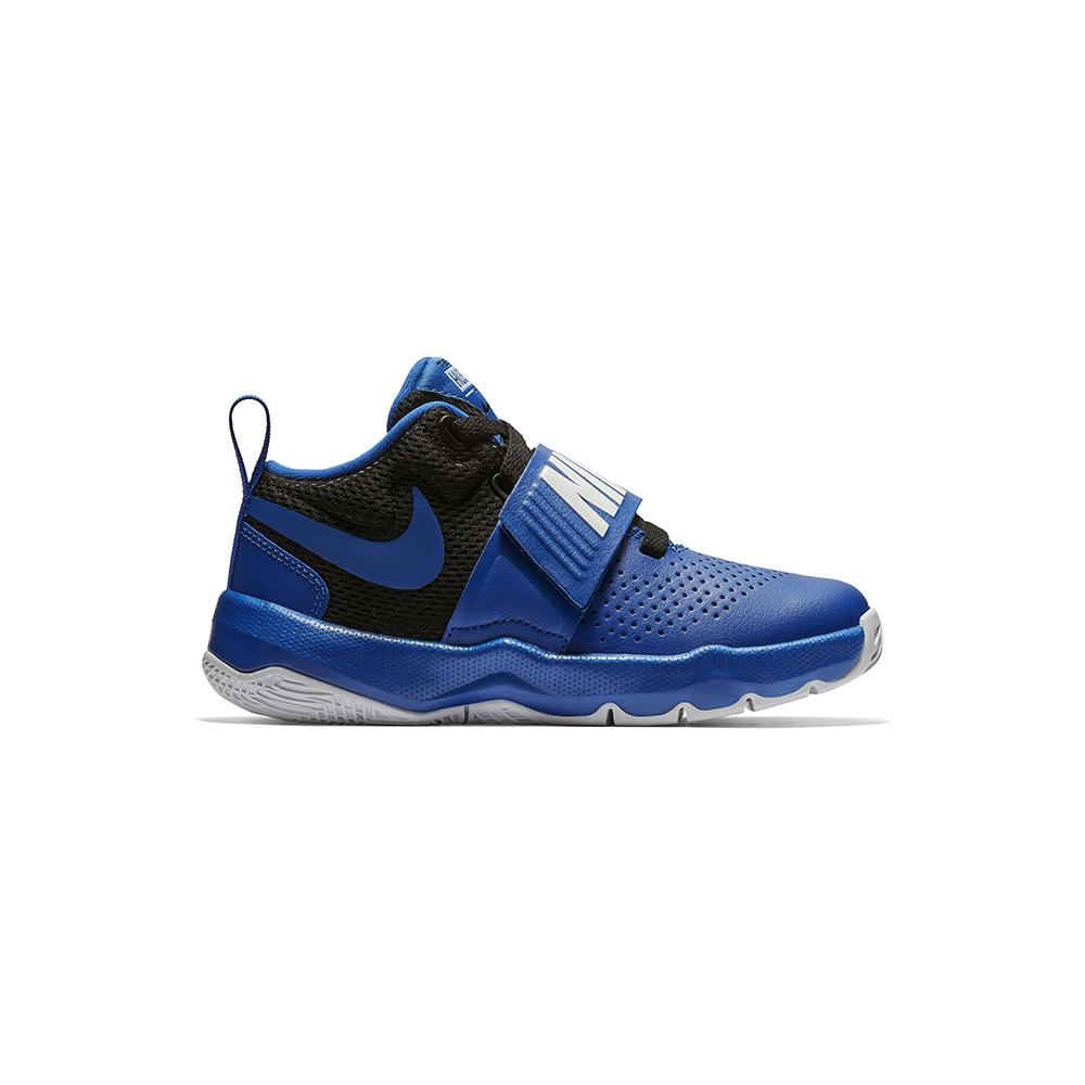 new style 381c0 62c5d Boys Nike Team Hustle D 8 Mid Basketball Royal Black in Blue