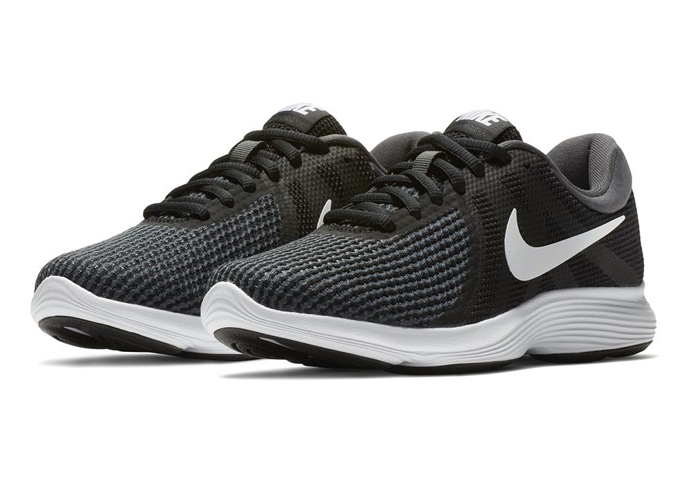 Womens Nike Revolution 4 Runner Black White