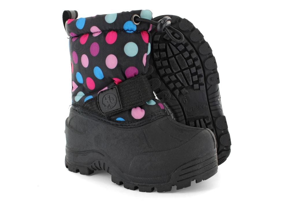 Infant Girls Northside Frosty Polka Dot Snow Boots