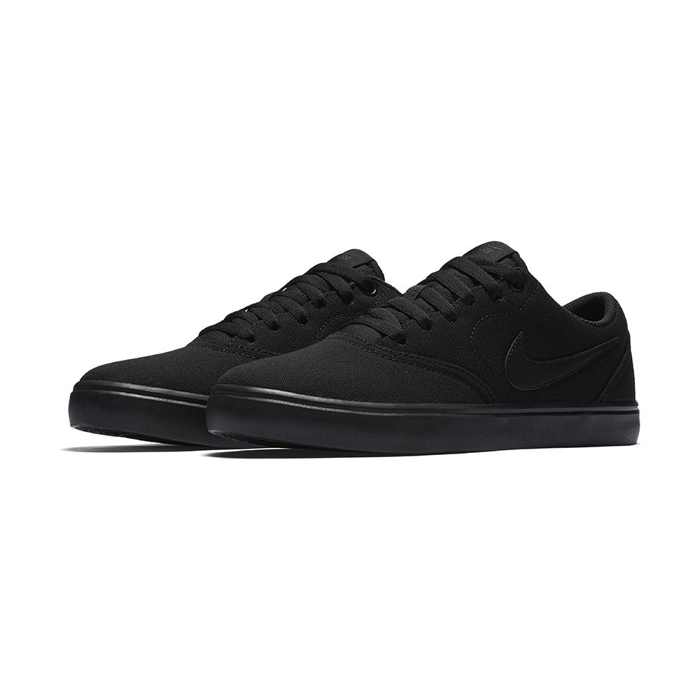 Womens Nike Sb Check Solarsoft Canvas Black