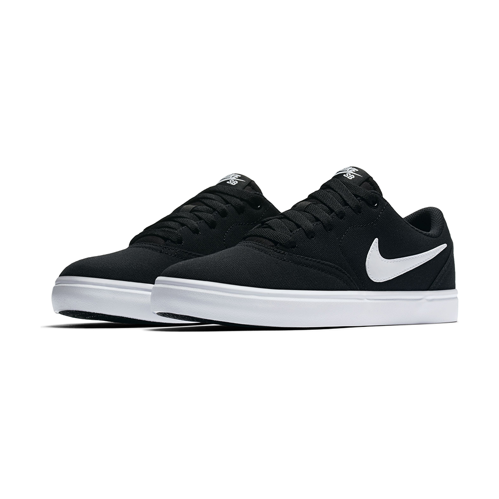 Womens Nike SB Check Solarsoft Canvas Black White in Black cf30a30676