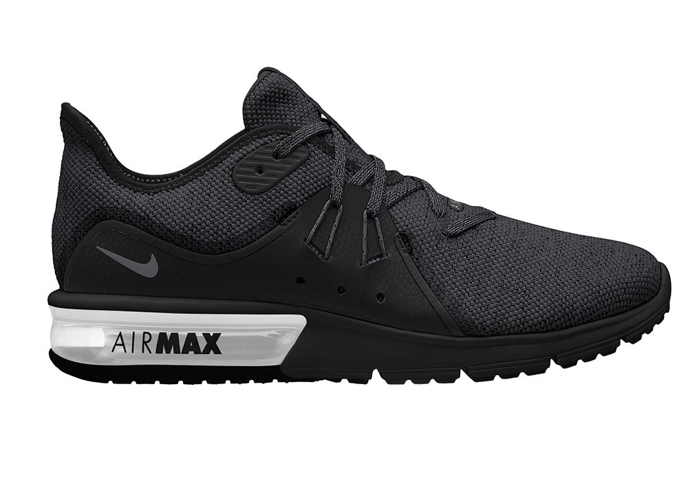 5af62fc1a2d5ff Mens Nike Air Max Sequent 3 Runner Black White in Black