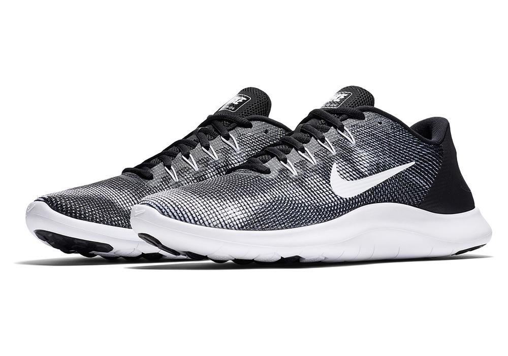 32bd6f508d6f Mens Nike Flex RN 2018 Runner Black White in Black
