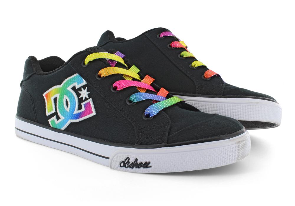 Kids > Girls > Girls DC Shoes Chelsea TX SE Skate Black / Rainbow