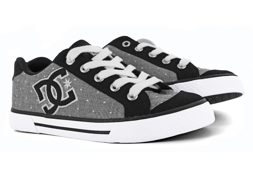Shoes > Skate > Womens DC Shoes Chelsea TX SE Skate Gray / Black