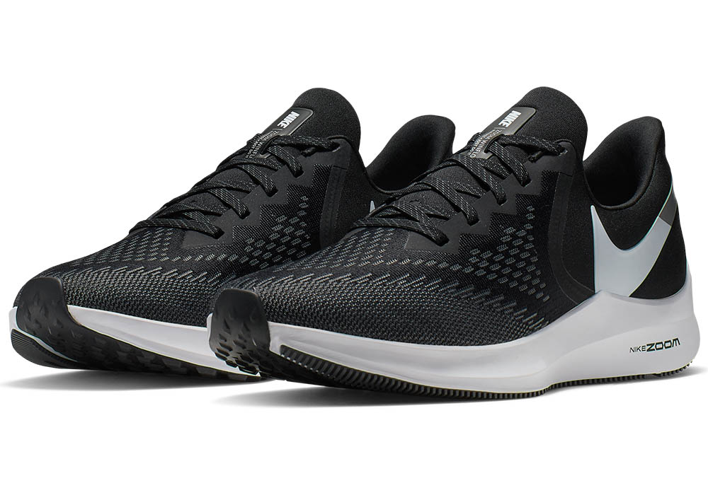 7fd61224879b Mens Nike Air Zoom Winflo 6 Runner Black Gray in Black