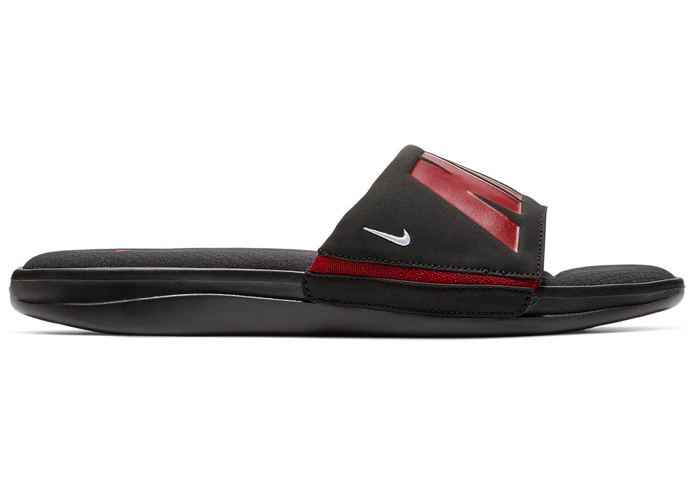 ea7cd628a1b110 Mens Nike Ultra Comfort Slide Black Red in Black
