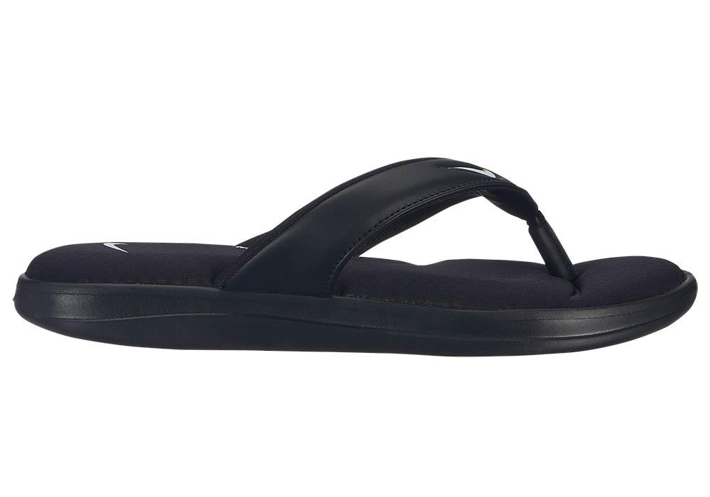 buy popular 4a9ab 4fb76 Womens Nike Ultra Comfort Thong Black White in Black