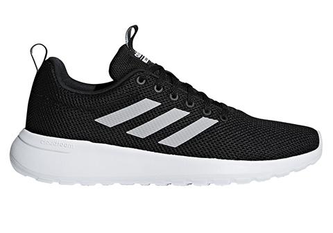 Mens Adidas Lite Racer Cln Runner Black White