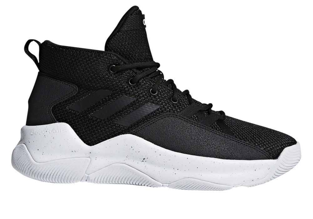 Mens Adidas Streetfire Basketball Black White in Black eae4faa73