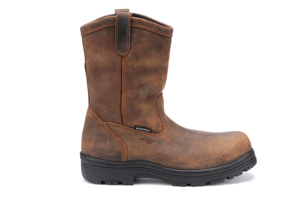 12c69633b0e Mens Carolina Waterproof Composite Toe Wellington Brown