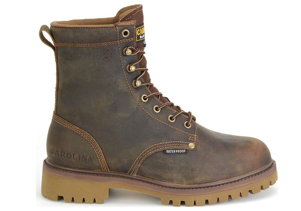 Mens Carolina 8 Quot Waterproof Insulated Steel Toe Boot Brown