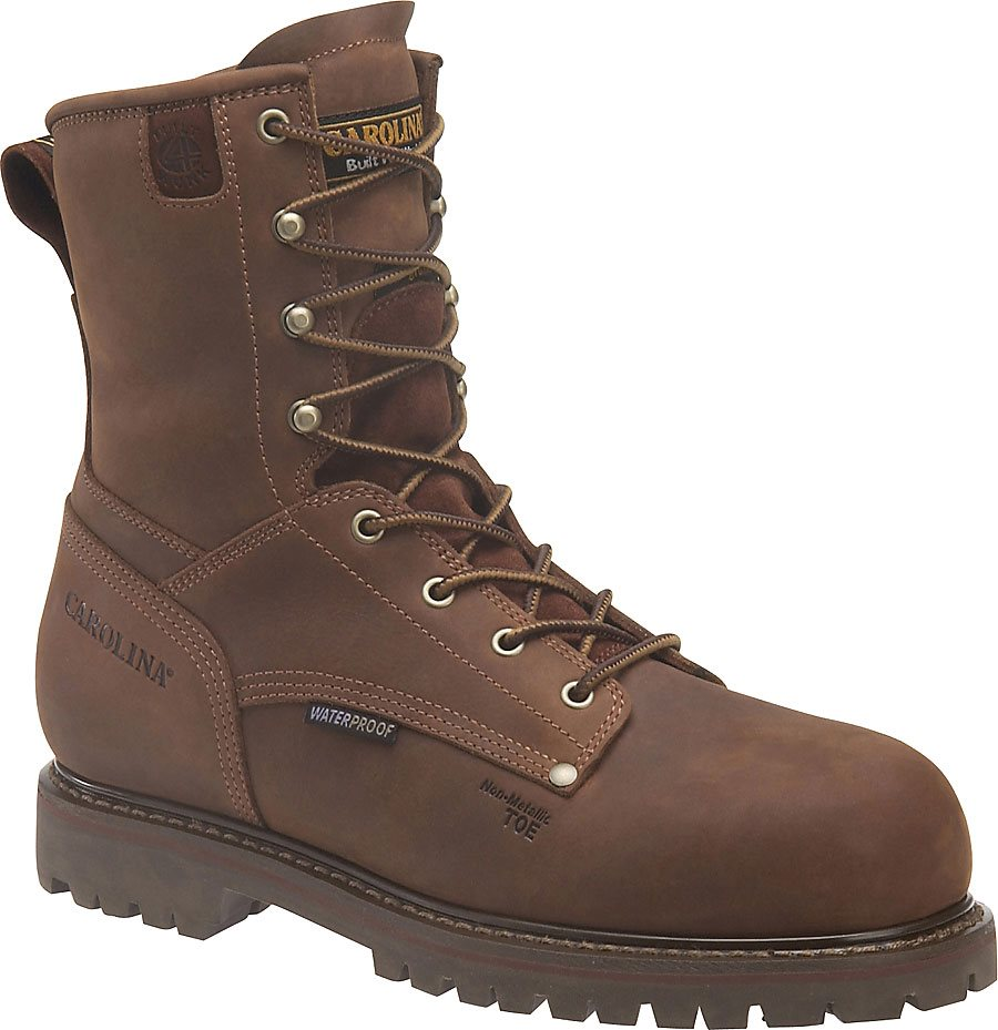Mens Carolina 8 Quot Waterproof 800g Composite Toe Grizzly Brown