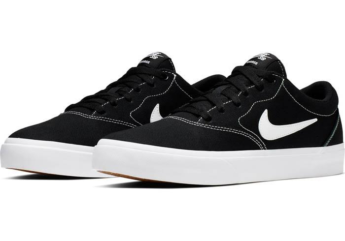 Mens Nike SB Charge Canvas Black/White/Gum