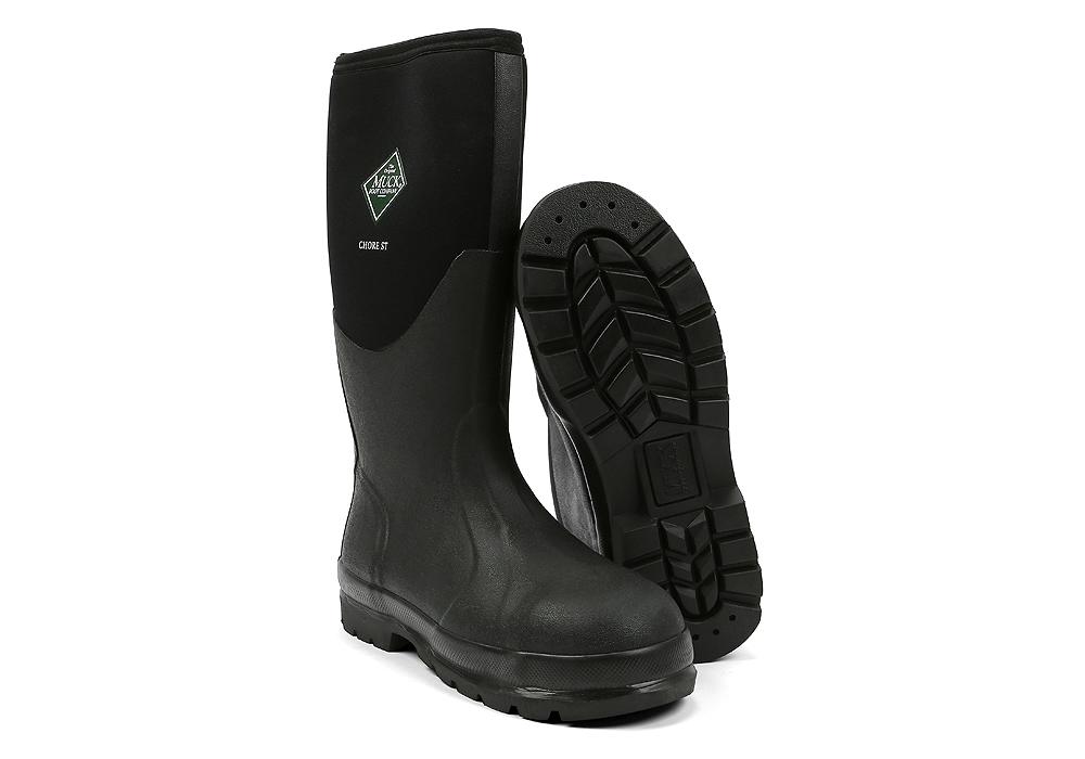 Mens Muck Chore Steel Toe Mid Waterproof Boot Black