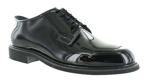 Mens Bates High Gloss Uniform Oxford Black