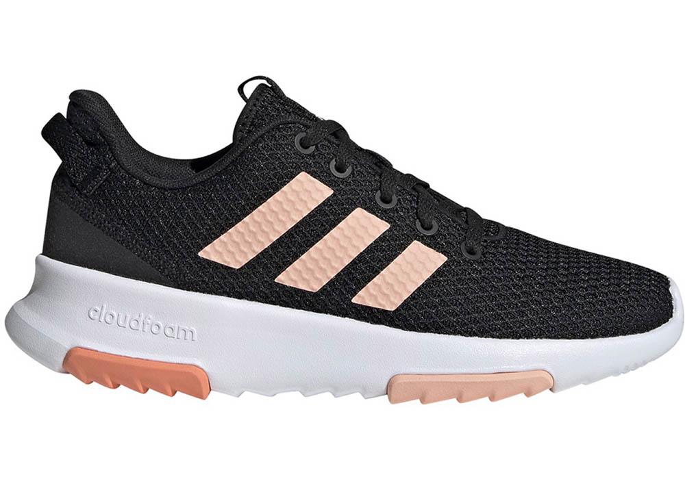 Girls Adidas CF Racer TR Runner Black/Pink